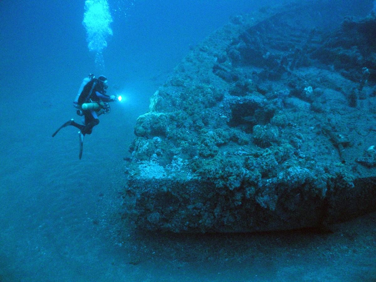 Scuba Diving Zanoni Shipwreck Ardrossan South Australia Australia