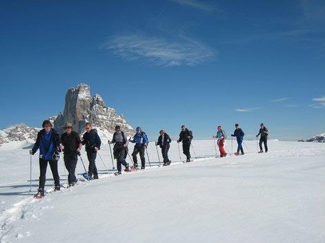 """""""Snowshoeing at Tre Cime di Lavaredo Park"""""""