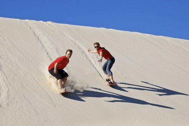 """Sandboarding Little Sahara"""