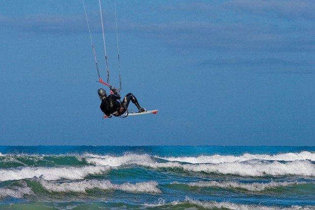 """Kitesurfing at Philorth"""