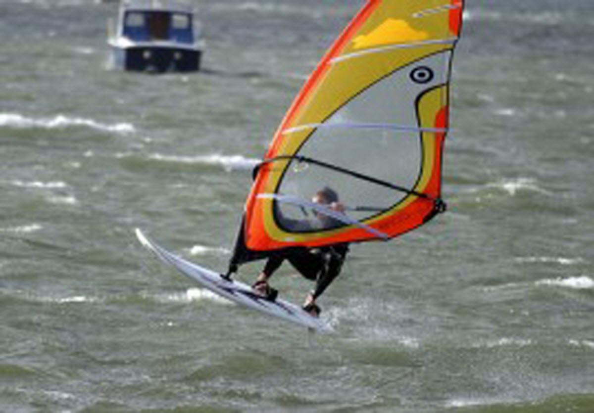 Wind Surfing Egypt Beach Scituate Massachusetts Usa