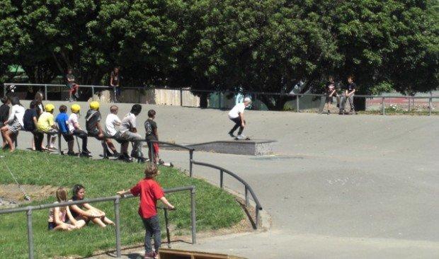 """""""Skateboarder at Bishopdale Skatepark"""""""