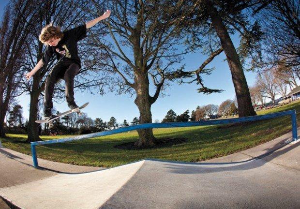 """Skateboarder at Templeton Domain"""