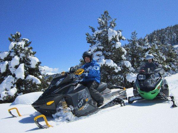 """Snowmobiling La Molina"""