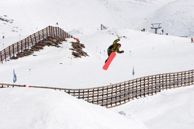 """""""Snowboarder jumping in Prodolano, Granada"""""""