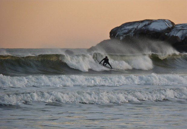 """Surfing at Good Harbor Beach"""