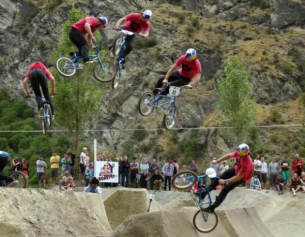 """BMX action at Gorge Rd Jump Park"""