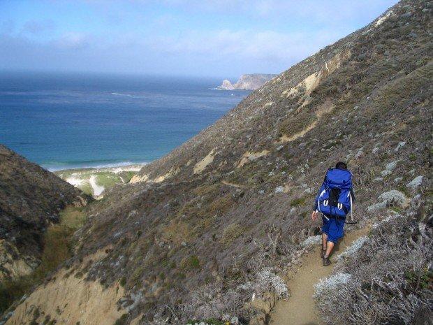 """Backpacker at San Miguel Island"""