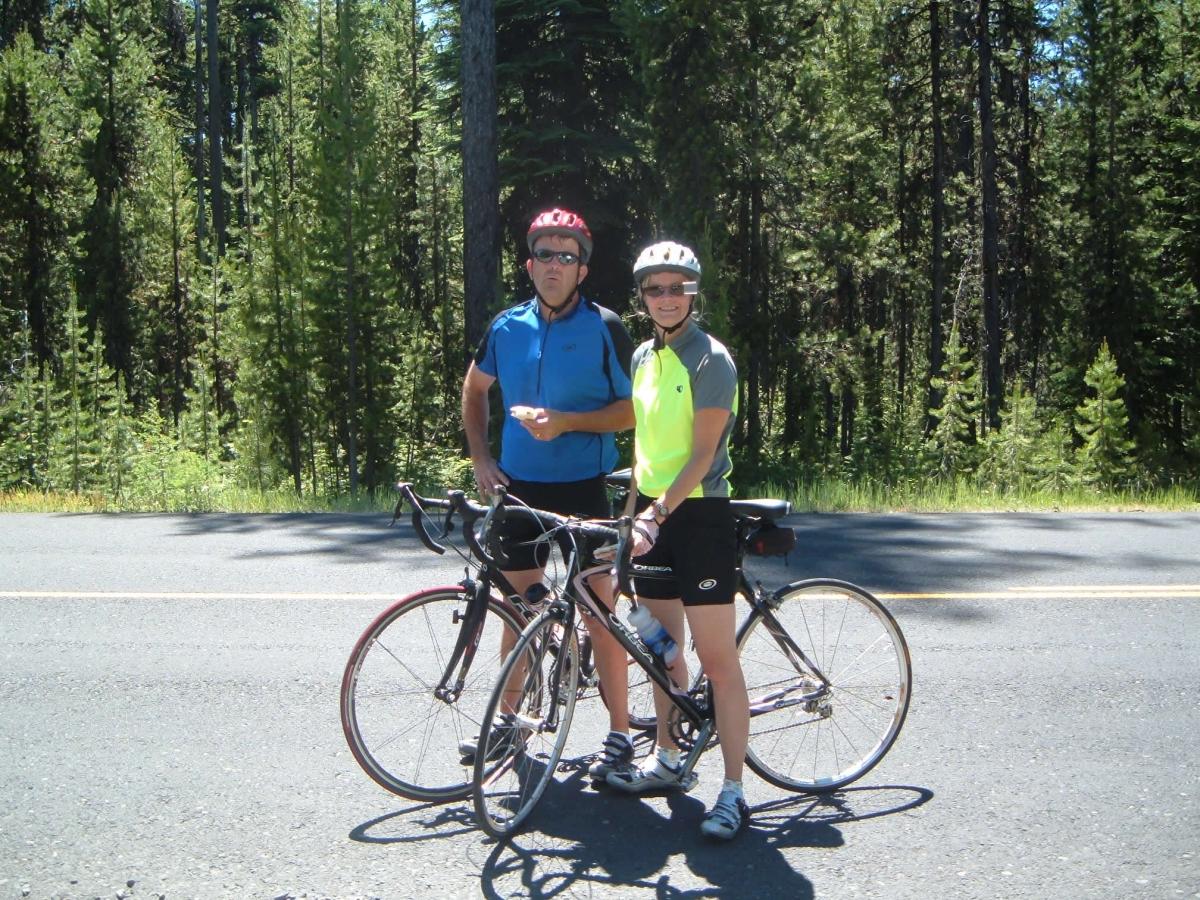Cycling Eagle Creek Road Wenatchee Washington USA