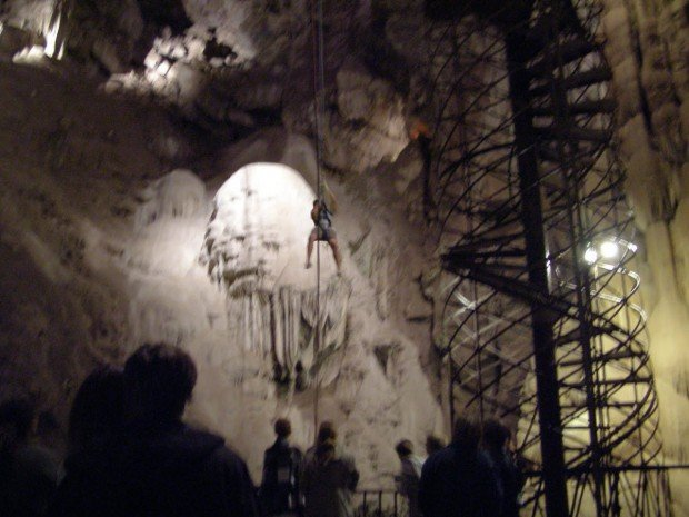 """""""Hanging with ropes at Moaning Cavern"""""""