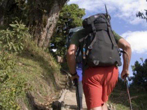 """""""Hikers at Mammoth Lakes"""""""