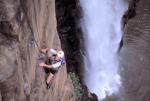"""Howick Falls, Durban Rock Climbing"""