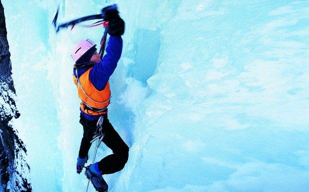 """Ice Climbing Champagne Climb"""