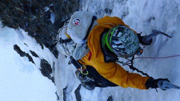 """Ice Climbing Drury Falls Climb"""