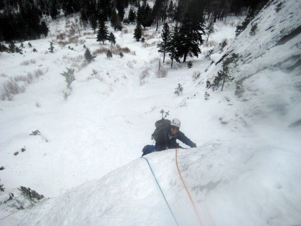 """Ice Climbing Hubba Hubba Falls"""