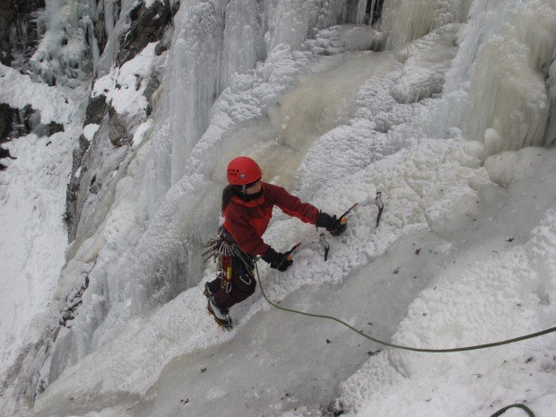 """Ice Climbing Rainbow Falls"""