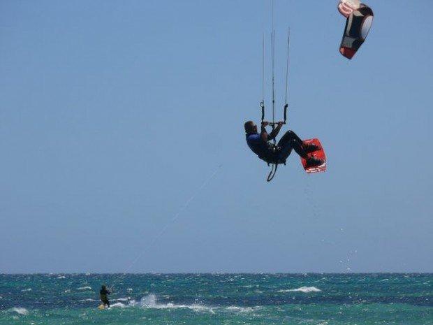 """Kite Surfer at Semaphore Beach"""