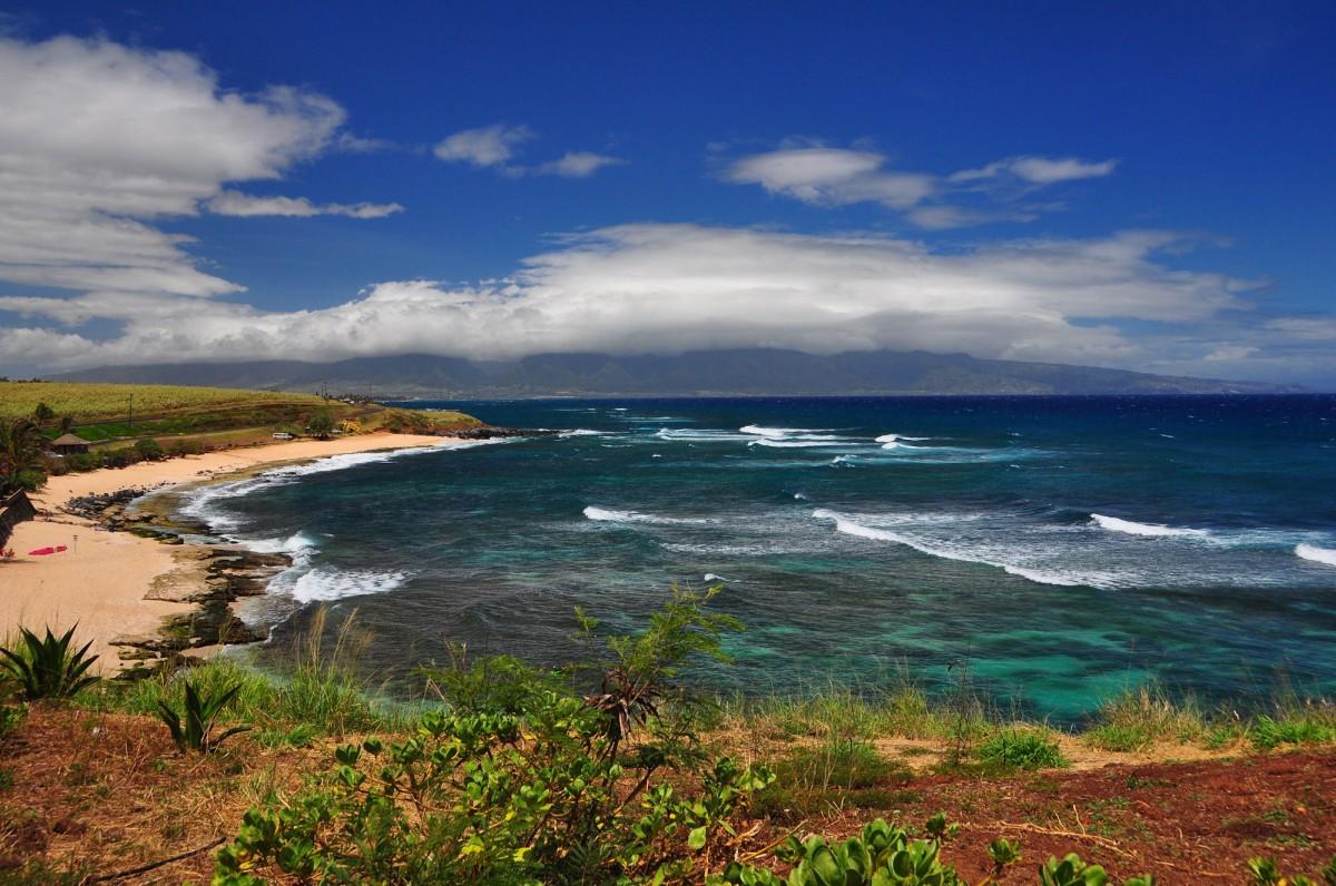 Kitesurfing Hookipa Beach Kahului Hawaii Usa
