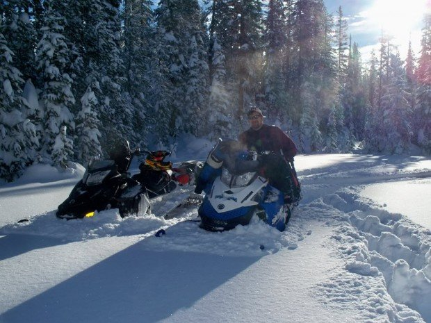 """Lake Alpine Snowmobiling"""