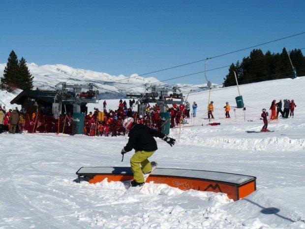 Masella snowpark boarding