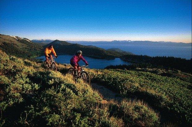 """""""Mountain Biking at Lake Tahoe"""""""