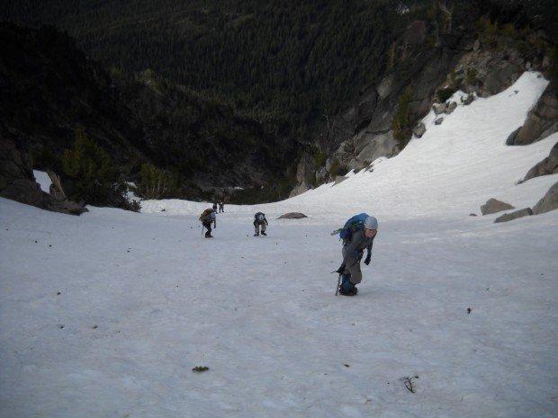 """Mountain Climbing Mount Stuart-Cascadian Couloir"""