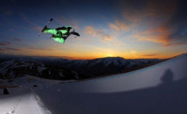 """Night Skiing at Snow Park"""