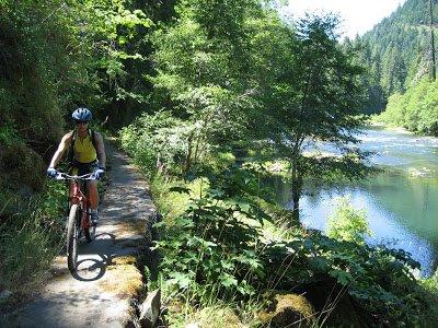 """North Umpqua River, Mountain Biking"""