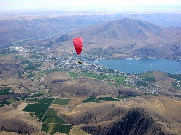 """""""Paragliding Chelan Butte Launch"""""""