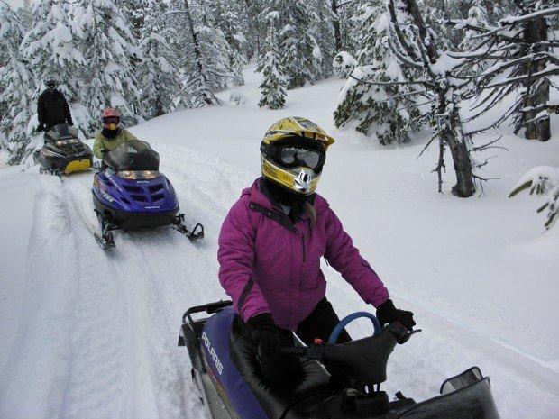 """Paulina Peak, Snowmobiling"""