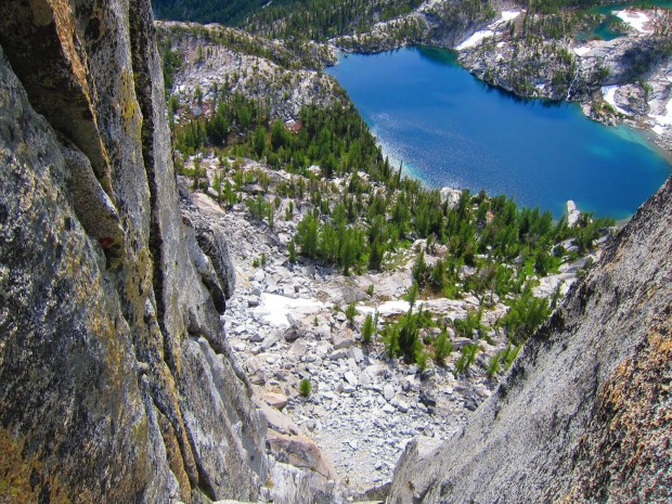 """Rock Climbing Prusik Peak, Stanley-Burgner Route"""