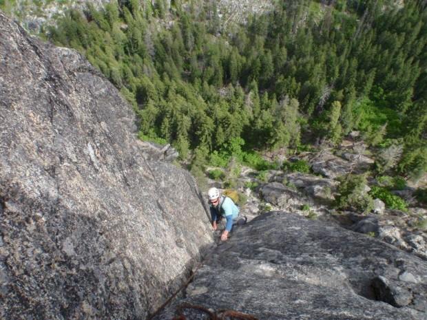 """Rock Climbing Snow Creek Wall-Orbit Route"""