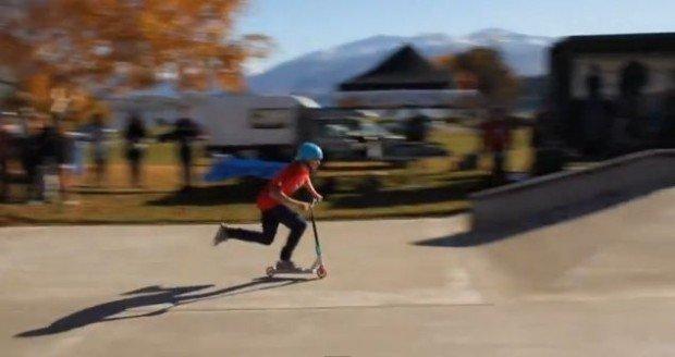 """""""Scootering at Wanaka Skatepark"""""""