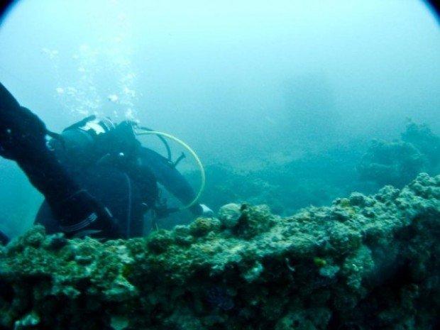 """""""Scuba Diver at Stanvac Barges Wreck"""""""