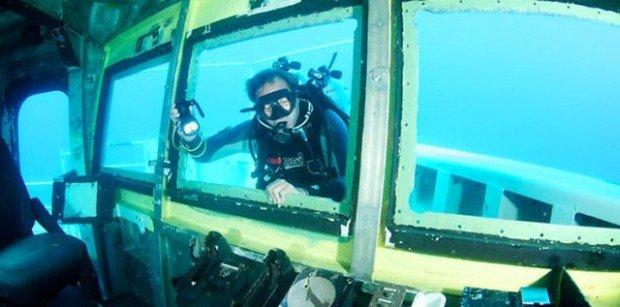 """""""Scuba Diver at Ex-HMAS Hobart Wreck"""""""