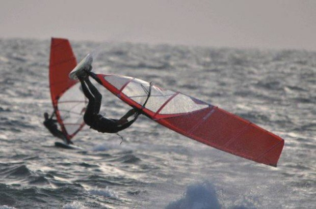 """Seacliff Beach, Windsurfing"""