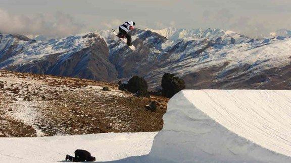 Snowboarding Snow Park Nz Queenstown Otago New Zealand