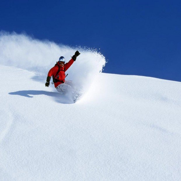"""""""Powder day perfect for Snowboarding at Badger Pass"""""""