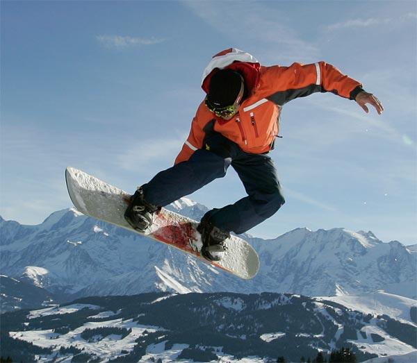 """Snowboarding at Mont Sainte Marie"""