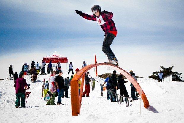 """Snowboarding at Mount Baldy"""