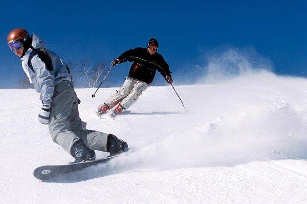 """Snowboarding at Ski Chantecler"""