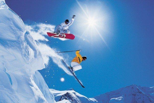 """Snowboarding at Ski Montcalm"""