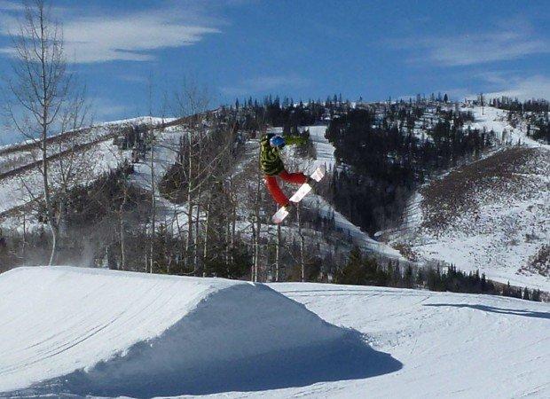 """""""Snowboarding at SolVista Basin"""""""