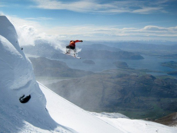 """""""Snowboarder jumping in the air"""""""