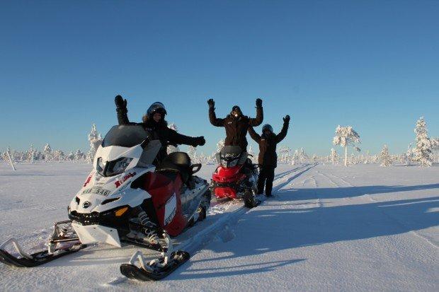 """Snowmobiling Easton Lake Snow Park"""