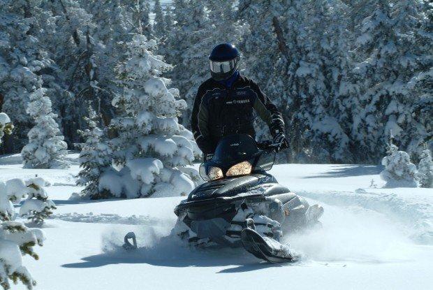 """Snowmobiling Taneum Snow Park"""