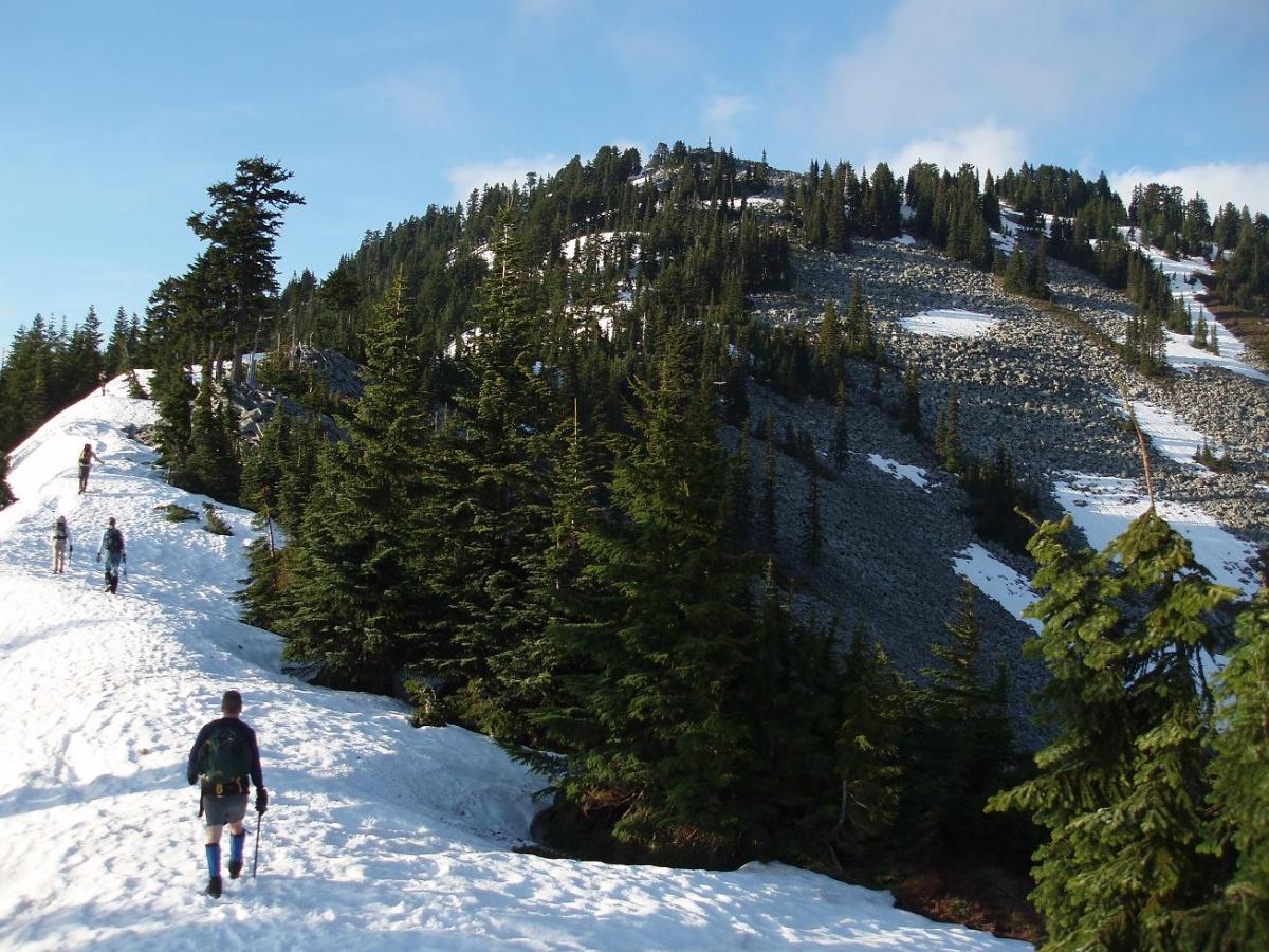 Snow Shoeing Granite Mountain Trail Wenatchee Washington Usa
