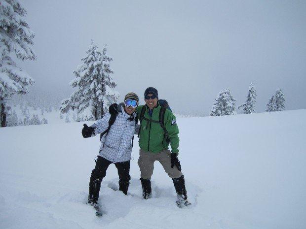 """Snowshoeing Snowshoeing Diamond-Head Trail"""