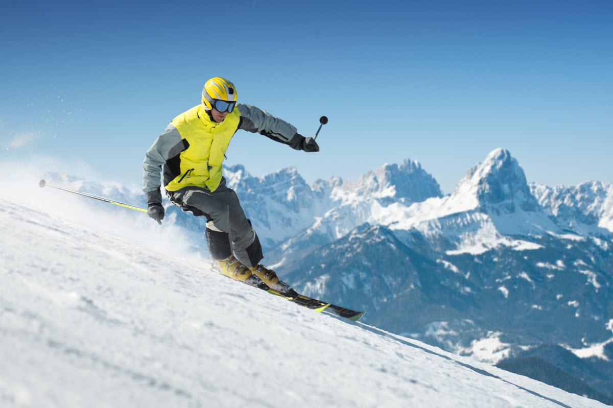 alpine skiing soda springs ski resort truckee california usa
