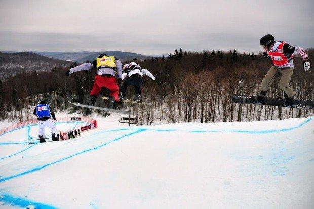 """Stoneham Snowboarding race"""